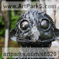 Animal Form: Abstract Sculpture by sculptor artist Mary Wildlife Garden Creations titled: 'Baby Meerkat'