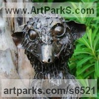 Animal Form: Abstract Sculpture by sculptor artist Mary Wildlife Garden Creations titled: 'Meerkat'