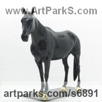 Pet and Animal Portrait Custom or Bespoke or Commission Commemorative or Memoriaql sculpture statue by sculptor artist Wrightson and Platt titled: 'Equestrian sculpture (bronze life size Horse Commission/Custom Portrai)' in Bronze