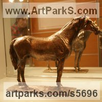 Small Animal Sculpture by sculptor artist Yanina Antsulevich titled: 'Aspekt (Small bronze Orloff Trotter Stallion/Horse sculpture/statuette)' in Bronze
