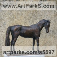 Small Animal Sculpture by sculptor artist Yanina Antsulevich titled: 'Ovana (Little/Small bronze Thoroughbred Mare/Horse sculpture/statue)' in Bronze