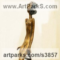 Nudes, Female Sculpture by sculptor artist Zakir Ahmedov titled: 'Young Girl (nude Young Naked Teenager Girl sculpture)' in Bronze