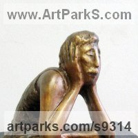 Religious Sculpture by sculptor artist Zakir Ahmedov titled: 'Meditation'
