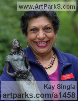 Sculptor Kay Singla City and guild teaching sculpture