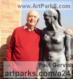 Sculptor Paul Gervis