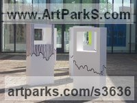 Woood Installation sculpture by Abu Jafar titled: 'Hope III (abstract White Rectangular Indoor sculptures)'