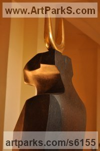 Bronze Mythical sculpture by sculptor Ahmed Magdy Abdou titled: 'sculpture 2 (Semi abstract Bronze statues)'