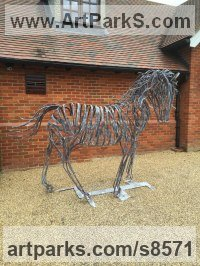 Metal Objects of desire sculpture by Adrian Payne titled: 'Horse'