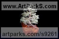 10,000 small Aventurine Stones Tree Plant Shrub Bonsai sculpture statue statuette sculpture by Alarik Greenland titled: 'Cho`s Tree (Little Gemstone statuette sculptures)'