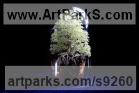 7,000 Peridot Stone, twisted Wire and wood Wedding Anniversary Gift or Present Sculptures Statues statuettes sculpture by Alarik Greenland titled: 'Debbie`s Tree (Ancient Small Gemstone Tree statue)'