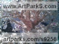Twisted Wire and gemstones Interior, Indoors, Inside sculpture by Alarik Greenland titled: 'Pandora Close up'