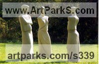 Females Women Girls Ladies sculpture statuettes figurines sculpture by sculptor Althea Wynne titled: 'Gossips IV'