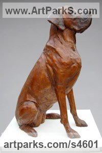 Bronze Dogs sculpture by Amy Goodman titled: 'Faith, Great Dane (bronze Dog Life Portrait statue)'