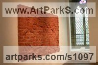 Red Brick Wall Mounted or Wall Hanging sculpture by sculptor Andrew MacCallum titled: 'Brick sculpture (Haute/High Relief Wall Brick figurative/Carving/panel)'