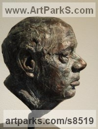 Modelled, bronze cast Musician and Musical sculpture by Anja Roemer titled: 'Portrait of Bernard Haitink (Bronze Bust sculpture)'