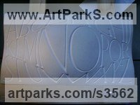 Portland Stone Architectural sculpture by Anna Louise Parker titled: 'Alphabet (stone Lettering Plaques Panel carving)'