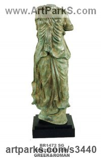Classical Sculpture and Statues by sculptor artist Anon of the East titled: 'Classical Torso (Small Greek/Roman Style Torso garden/Yard/statue)' in Bronze