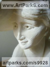 Tadcaster Limestone Figurative Abstract Modern or Contemporary Sculptures Statues statuary statuettes figurines sculpture by Anthony Bartyla titled: '1920`s female Bust'