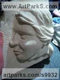 Ancaster Limestone Carved Stone, Marble, Alabaster, Soap Stone Granite Lime stone sculpture by Anthony Bartyla titled: 'Roman Woman Bust'