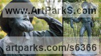 Bronze Figurative Public Art sculpture by Anthony Smith titled: 'Alfred Russel Wallace (life Bronze statue commission)'