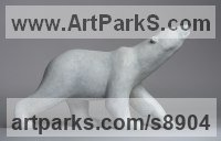 Bronze Animals and Humans Sculptures, Statues and Statuettes sculpture by Anthony Smith titled: 'Scenting Polar Bear'