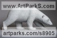 Bronze Bears sculpture by Anthony Smith titled: 'Stalking Polar Bear'