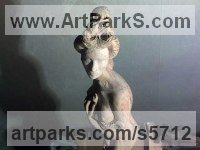 Wood Little Small Nude or Naked Girls Women Ladies Females Sculpture Statue statuettes Figurines sculpture by Arsen Alaverdyan titled: 'the Beauty (Carved Wood nude females statuettes)'