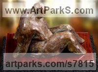 High quality foundry bronze Happiness / Joy / Exuberance / Wild Pleasure sculpture by Artist Vya titled: 'Fat Man in a bath (statue statuette bronze sculpture bronze)'