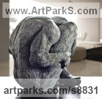 Silicon Bronze Indoor Inside Interior Abstract Contemporary Modern Sculpture / statue / statuette / figurine sculpture by Artist Vya titled: 'nude Man 1 (sculpture bronze statue statuette figurine)'