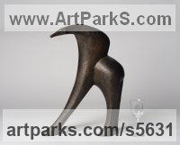 Bronze Resin Animal Abstract Contemporary Modern Stylised Minimalist sculpture by Beatrice Hoffman titled: 'Ancient Creature [4306]'