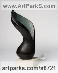Bronze resin Flower sculpture statue sculpture by Beatrice Hoffman titled: 'Arum Lilly'
