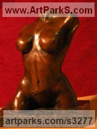 Torsos Sculpture or Chests of Men and Women Females Girls Children Statues statuery statuettes by sculptor artist Brandon Borgelt titled: 'female nude Torso (Beautiful Bronze statues/figurine/ornament/statue)' in Bronze