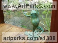 Water Features, Fountains and Cascades by sculptor artist Brett Davis titled: 'Dancing Frog (Bronze Fountain large sculpture)' in Bronze