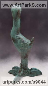 Bronze Wild Bird sculpture by Bruce Hardwick titled: 'Dodo - Medium (Young Amusing Comic Standing statues)'