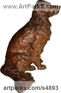 Bronze, also avail in bronze resin POA Young Animal Bird, Reptile or Amphibian and possibly Insects Statues sculpture by Camilla Le May titled: 'Golden Retriever (Half life size Bronze Commission/Custom sculptures)'