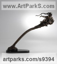 Bronze Nudes, Female sculpture by Carl Payne titled: 'Morning Glory'