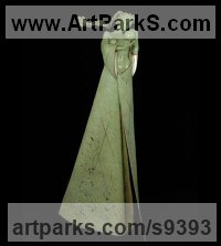 Bronze Stylized People sculpture by Carl Payne titled: 'Persephone - Contemplation'