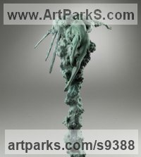 Bronze Figurative Abstract Modern or Contemporary Sculptures Statues statuary statuettes figurines sculpture by Carl Payne titled: 'Sunburst'