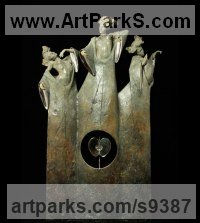 Bronze Nude sculpture statue statuette Figurine Ornament sculpture by Carl Payne titled: 'The Fates'