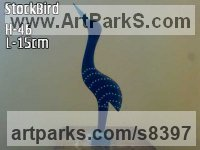 Stone Stylised Birds Sculptures / Statues / statuary / ornaments figurines / statuettes sculpture by Cassian Munhundarima titled: 'Storkbird (Carved Stylised Wader statuettes)'