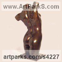 Bronze Dance Sculptures and Ballet sculpture by sculptor Chris Bower titled: 'female Torso II (bronze nude Interior sculptures)'