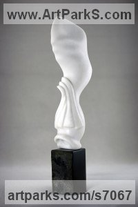 Lasa Marble, Black marble Abstract Contemporary or Modern Large Public Art sculpture Statues statuary sculpture by Damjan Komel titled: 'Seed No.3 (Carved marble abstract Contemporary garden sculpture statue)'