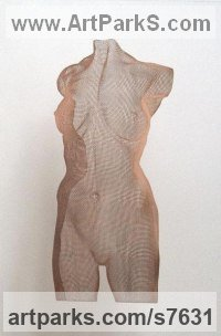 Phosphor Bronze Panel Sculptures of females by David Begbie titled: 'Venus bronze Flat'