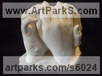 Plaster Wedding Anniversary Gift or Present sculpture statuettes sculpture by sculptor David Corbett titled: 'Commissioned Hand Cast sculpture (Indoor Plaster Togetherness statuette)'