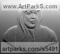 Commemoratives and Memorials sculpture by sculptor David Cornell titled: 'Arab (Plaster Portrait of Arab bas/Low relief Panel/Plaque)'