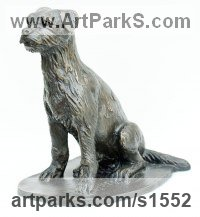 Bronze Animals in General sculpture sculpture by sculptor David Cornell titled: 'border terrier'