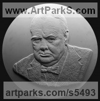 Commission and Custom and Bespoke sculpture sculpture by sculptor David Cornell titled: 'Churchill'