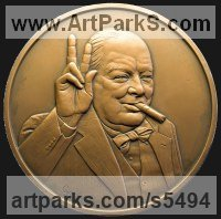 Commission and Custom and Bespoke sculpture sculpture by sculptor David Cornell titled: 'Churchill 2'