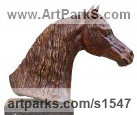 BRONZE Horses Small, for Indoors and Inside Display sculpturettes Sculptures figurines commissions commemoratives sculpture by sculptor David Cornell titled: 'DANCING MAGIC PORTRAIT (HORSE sculpture)'
