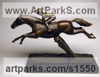 BRONZE Horse Sculpture / Equines Race Horses Pack HorseCart Horses Plough Horsess sculpture by sculptor David Cornell titled: 'DESERT ORCHID'